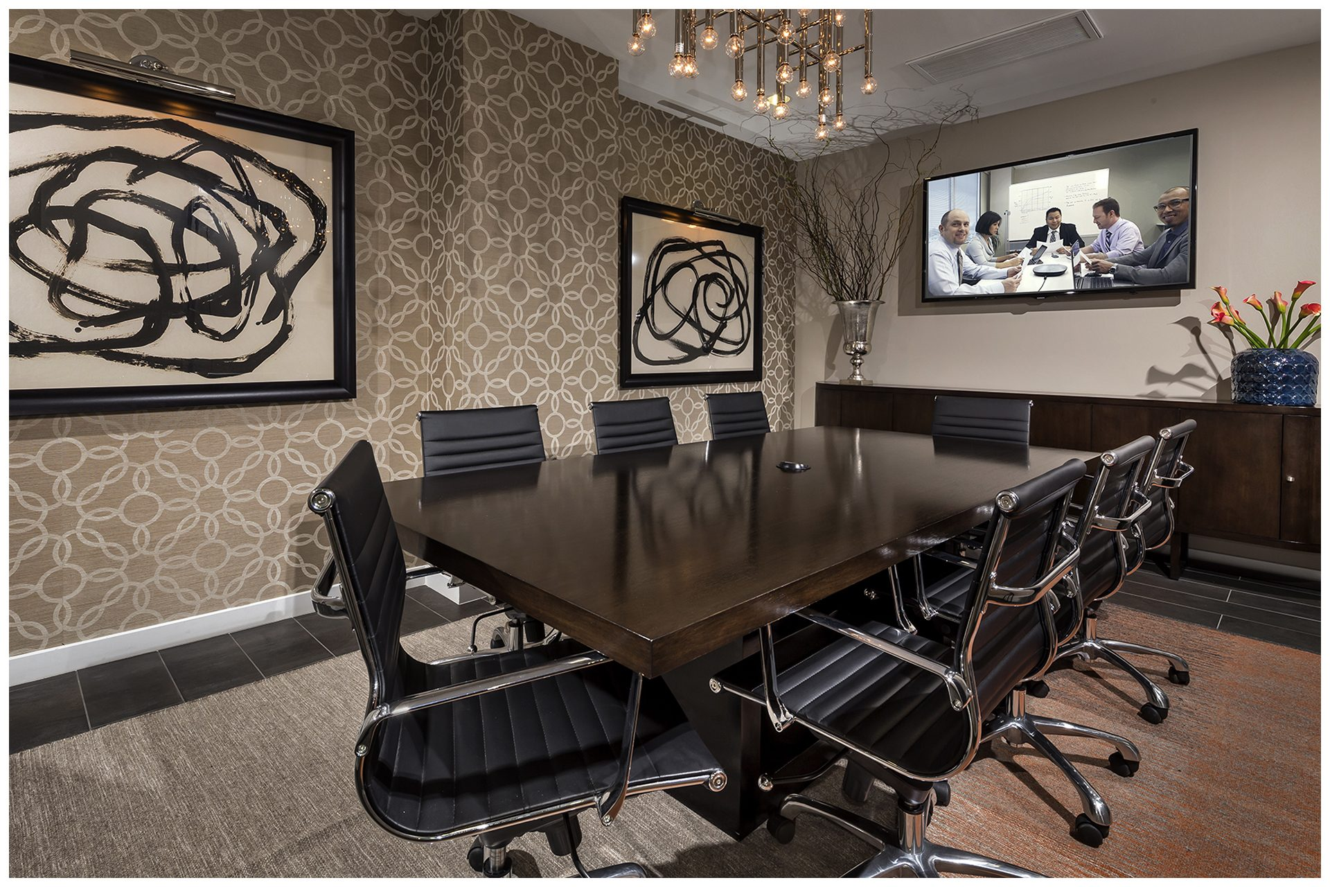 CONFERENCE ROOMConference Room Audio Video & WiFi; Audio Video provisions controlled via an in-room iPad and remotely from leasing office.