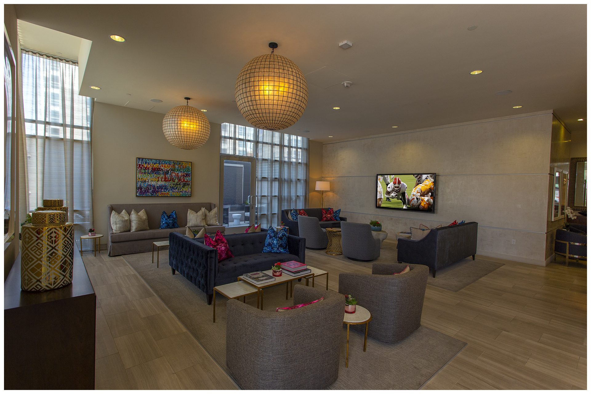 MAIN  LOBBY LOUNGE PROVISIONSMain Lobby   Lounge Audio Video &  WiFi; Audio Video provisions controlled remotely from leasing office iPad.