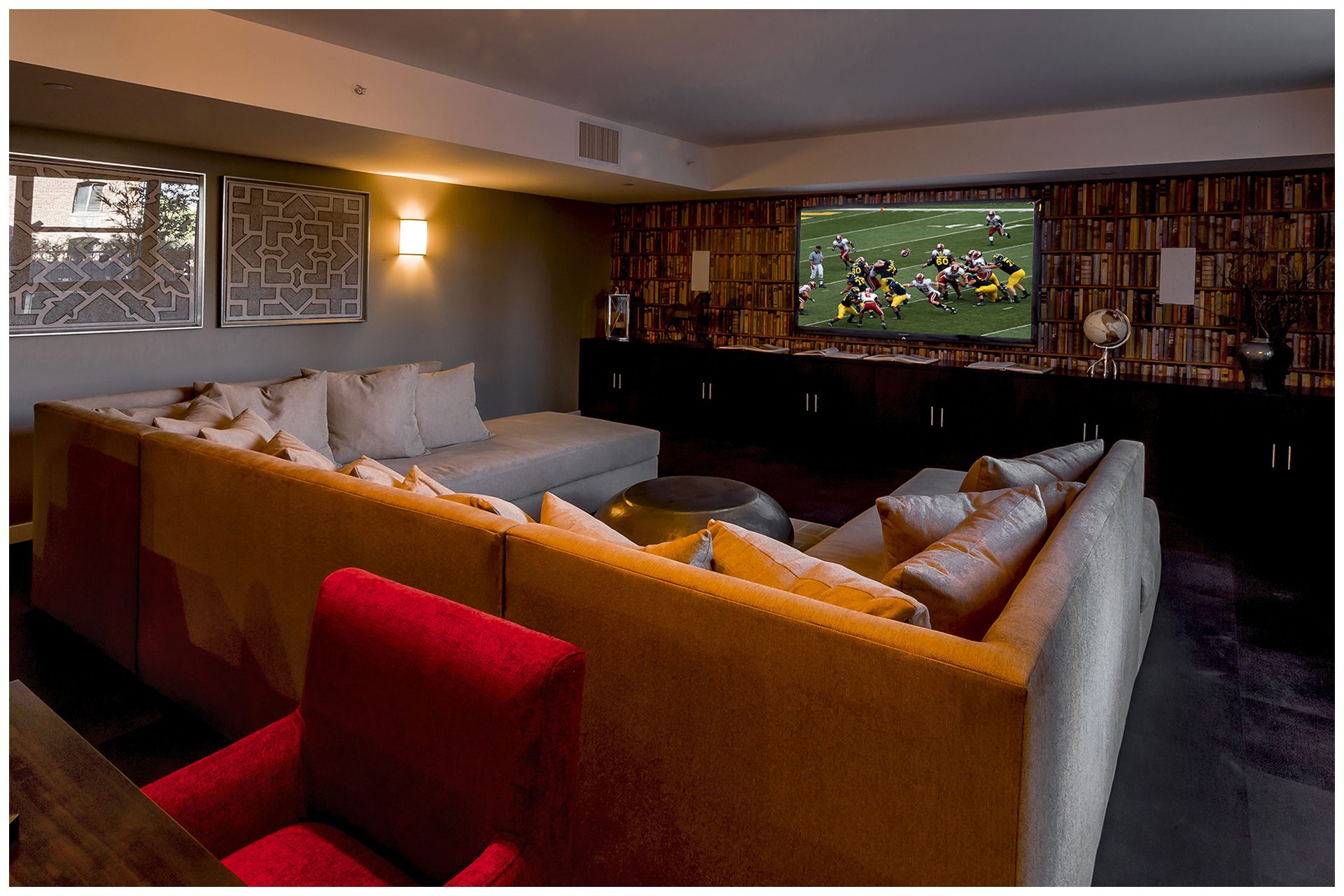 LOUNGE PROVISIONSBusiness Lounge or Game Lounge Audio Video Provisions & WiFi. Audio Video provisions are controlled via an in-room wall-mounted iPad and remotely from leasing office iPad. In-room iPad allows a limited range of volume change for music.
