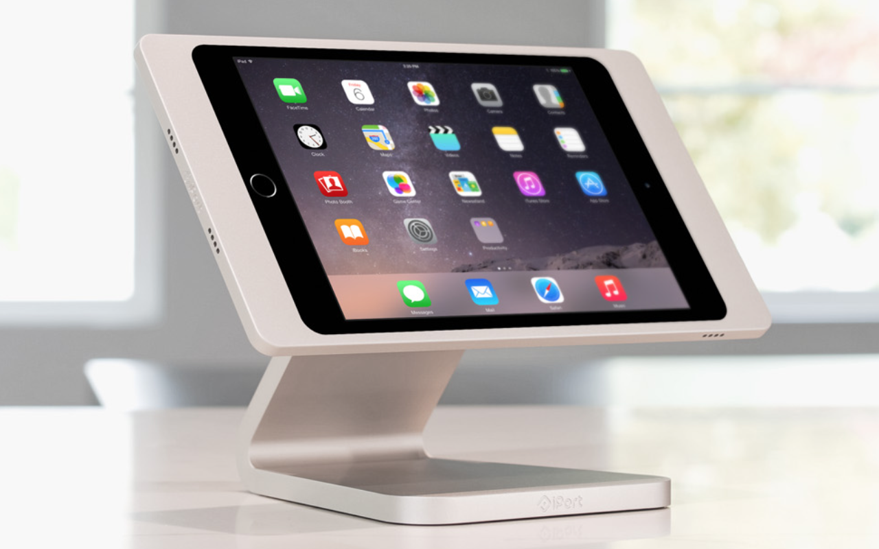 iPORT INTERFACESiPorts can be an elegant way of using iPads for either Crestron or RTI control.Above shows an iPad in white enclosed in an iPort table-top stand.